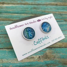 Load image into Gallery viewer, Artsy Abstract Cufflinks #102