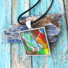 "Load image into Gallery viewer, ""Think Outside the Box"" Wearable Art Necklace"
