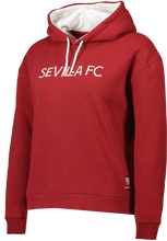 Load image in gallery viewer, SEVILLA FC WOMAN BURGUNDY SWEATSHIRT WITH HAT