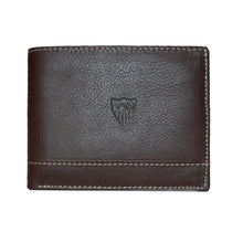 Load image in gallery viewer, SEVILLA FC AMERICANA BROWN LEATHER WALLET