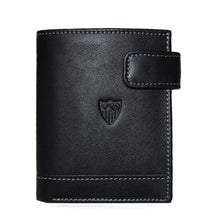 Load image in gallery viewer, SEVILLA FC BLACK WALLET WITH LEATHER CLOSURE