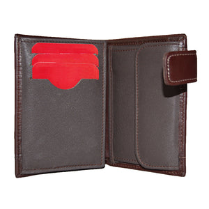 SEVILLA FC BROWN WALLET WITH LEATHER CLOSURE