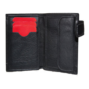 SEVILLA FC BLACK WALLET WITH LEATHER CLOSURE