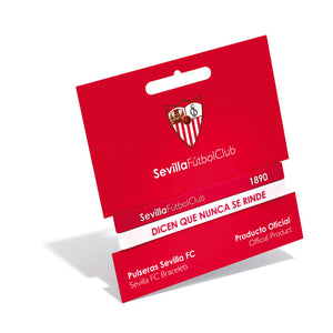 DOUBLE SEVILLA FC RED AND WHITE ADULT BRACELET