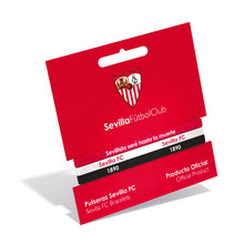 Load image in gallery viewer, TRIPLE BRACELET SEVILLA FC RED WHITE AND BLACK ADULT