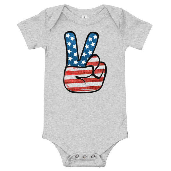 American Peace Sign Onesie
