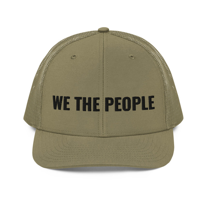 We The People Trucker Cap (Black Lettering)
