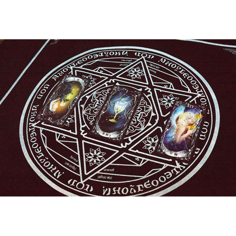 50*50cm Non-woven Tarot Tablecloth Board Game Textiles Hexagon Magic Game Tablecloth Square Tapestry PXPF