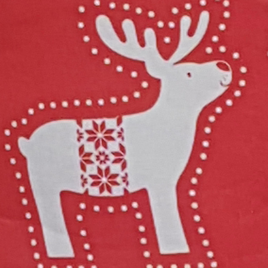 Red Reindeer Fabric