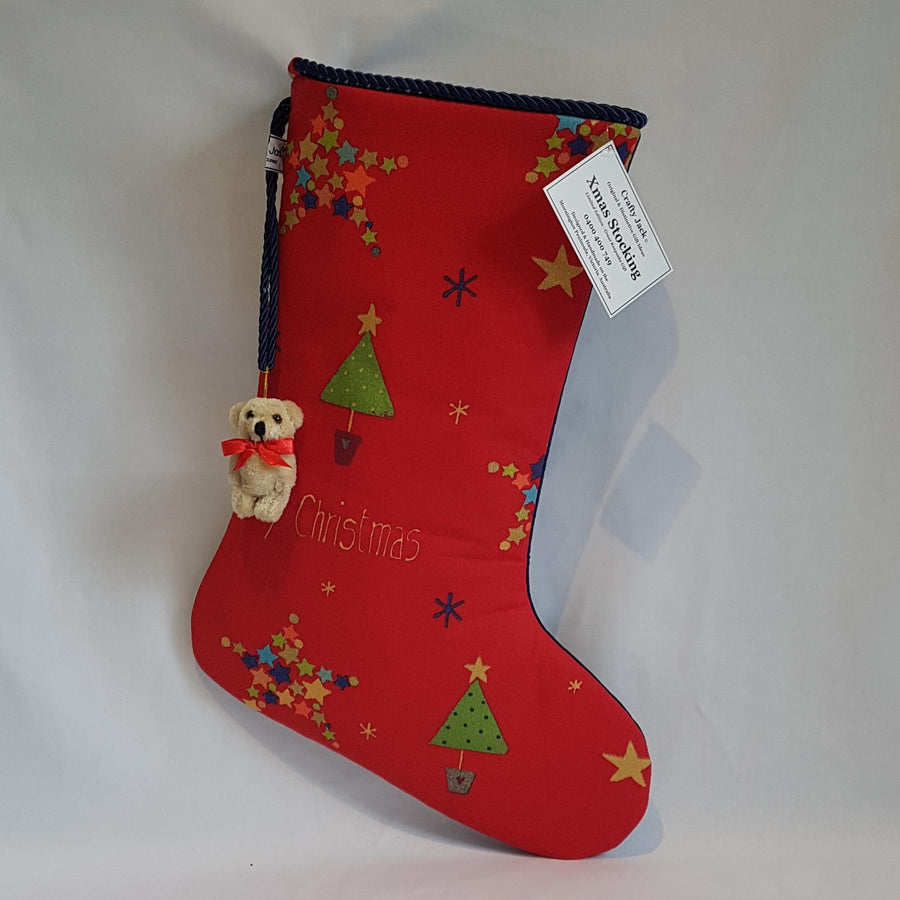 stocking red and navy front image