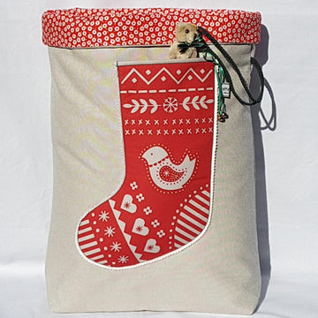 Santa Sack - Scandi Red Dove Lollipops