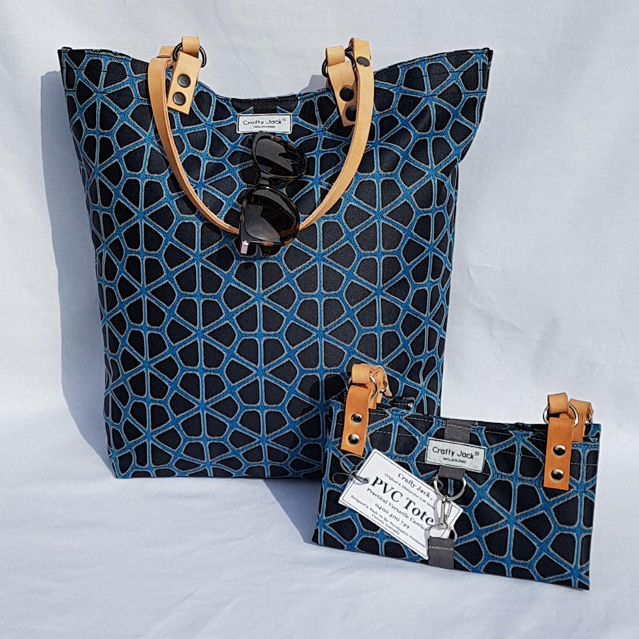 PVC Tote Bag - Geo Floral Midnight