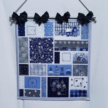 Advent Calendar - Blue Tartan