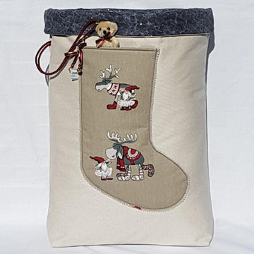 Santa Sack - Nordic Reindeer Right