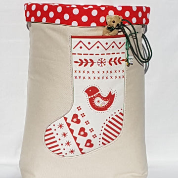 Santa Sack - Scandi White Dove