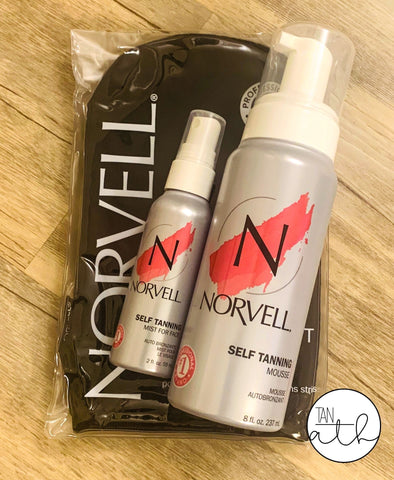 NORVELL SELF TANNING MOUSSE  W/ FACE MIST KIT - FREE MITT!