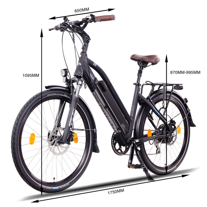 NCM Milano Plus Trekking E-Bike, City-Bike, 250W, 48V 16Ah 768Wh Battery.
