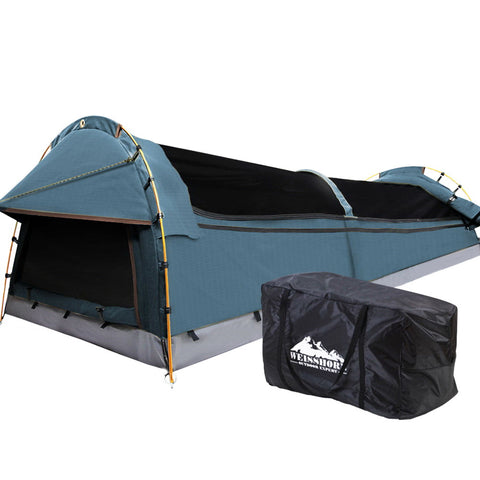 Weisshorn Double Camping Swag Water Reistant Ripstop Canvas 2 Person