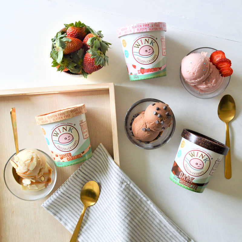 Not-So-Guilty Sundaes with Wink Frozen Desserts