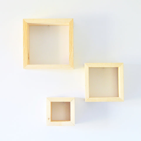 The Cube Shelf | Set of Three