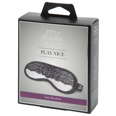 Fifty Shades Of Grey Play Nice Satin & Lace Blindfold