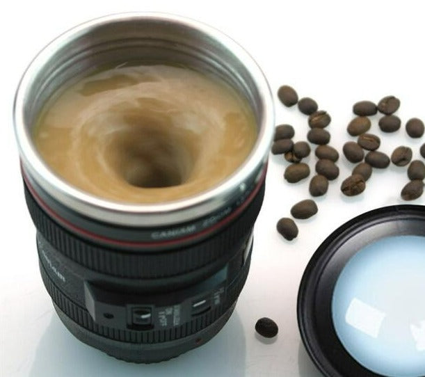 Self Stirring Camera Lens Mug - Shopenzer