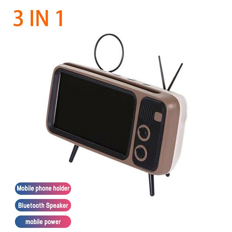 Retro TV Bluetooth Speaker Phone Holder