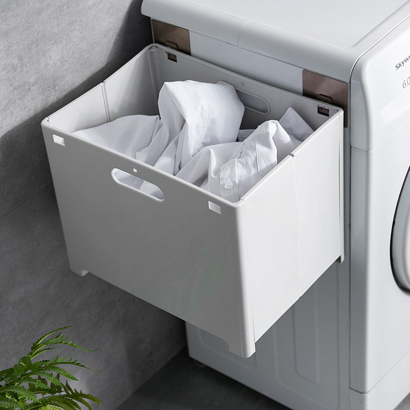 Wall Mounted Folding Laundry Basket