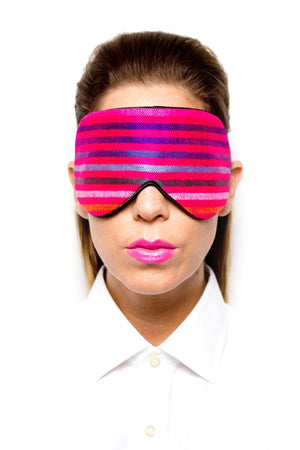 Fuchsia Handwoven Mexican Fabric Sleep Mask