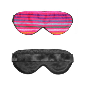 Pink Rainbow Silk Sleep Mask