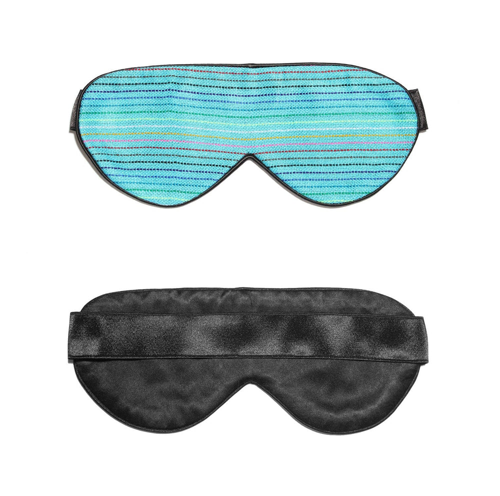 Light Blue Rainbow Silk Sleep Mask