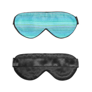 Light Blue Handwoven Mexican Fabric Sleep Mask