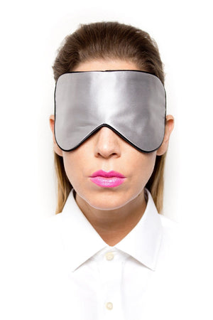 Light Grey Silk Sleep Mask