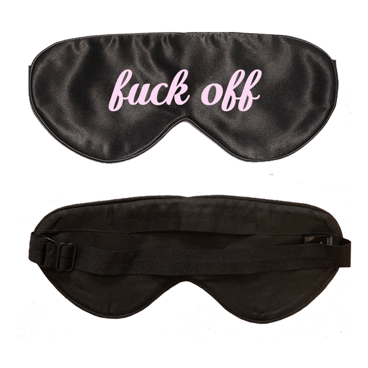 Lavender Scented Black Silk Sleep Mask- Click to customize