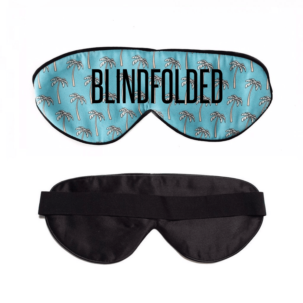 Palm Palm Blue Sleep Mask