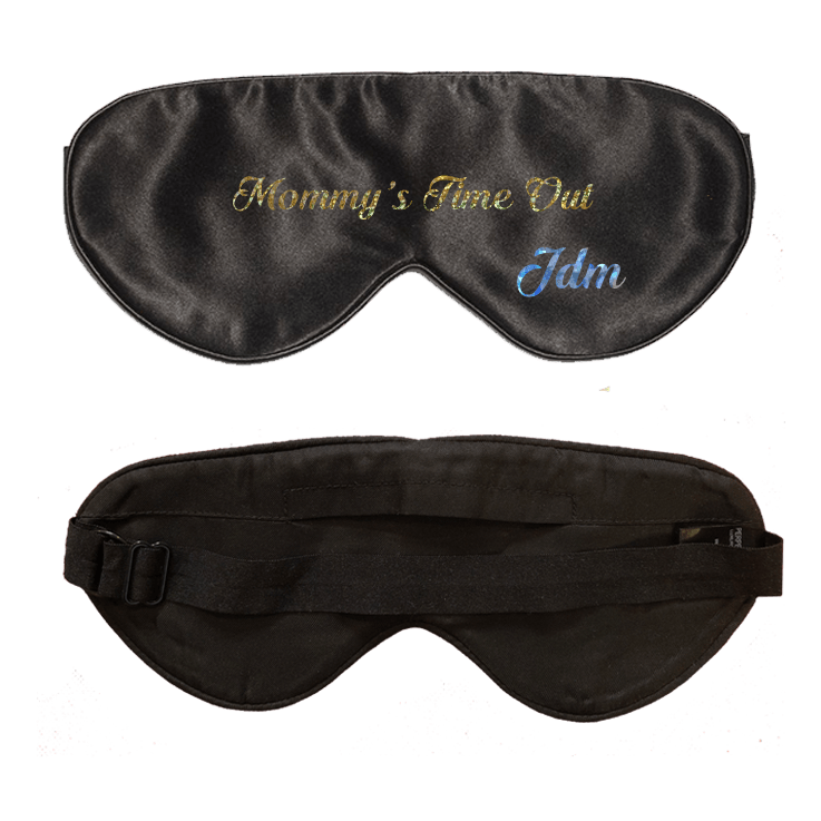 Lavender Scented Black Silk Sleep Mask - Customization Available