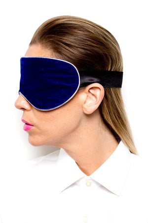 Blue Velvet Sleep Mask