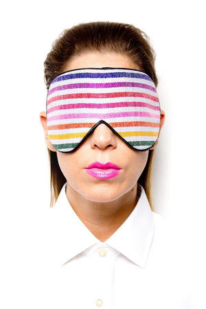 White Handwoven Mexican Fabric Sleep Mask