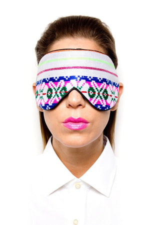 Floral Handwoven Mexican Fabric Sleep Mask