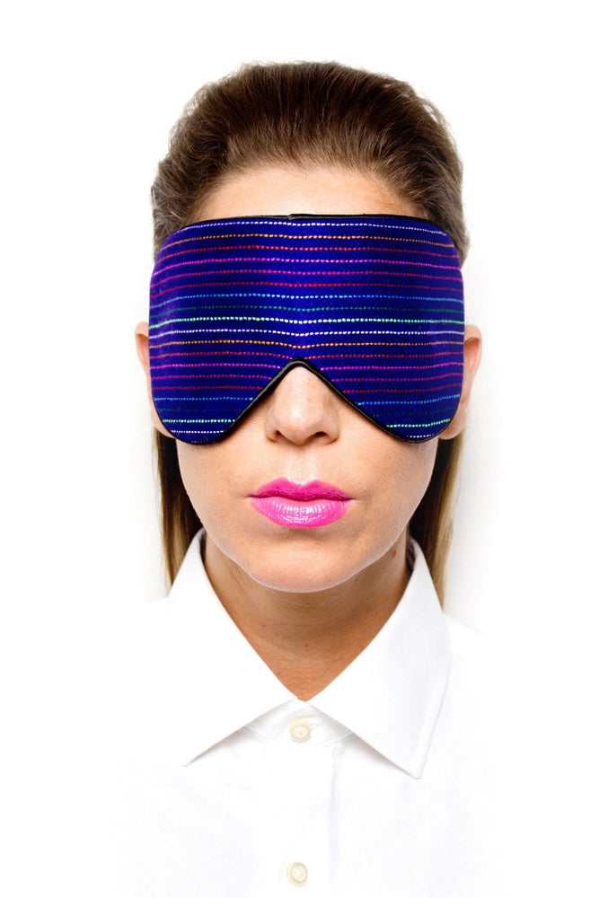 Dark Blue Rainbow Silk Sleep Mask
