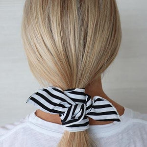 Black and White Stripe Wire Headwrap
