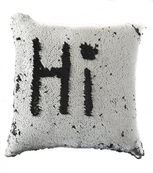 Black & White Sequin Magic Pillow