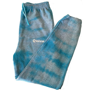 Queen Blue Tie Dye Sweatpants