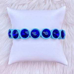 Blue Gem Stretchy Bracelet