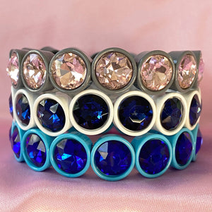 Blueberry Gem Stretchy Bracelet Set of Three