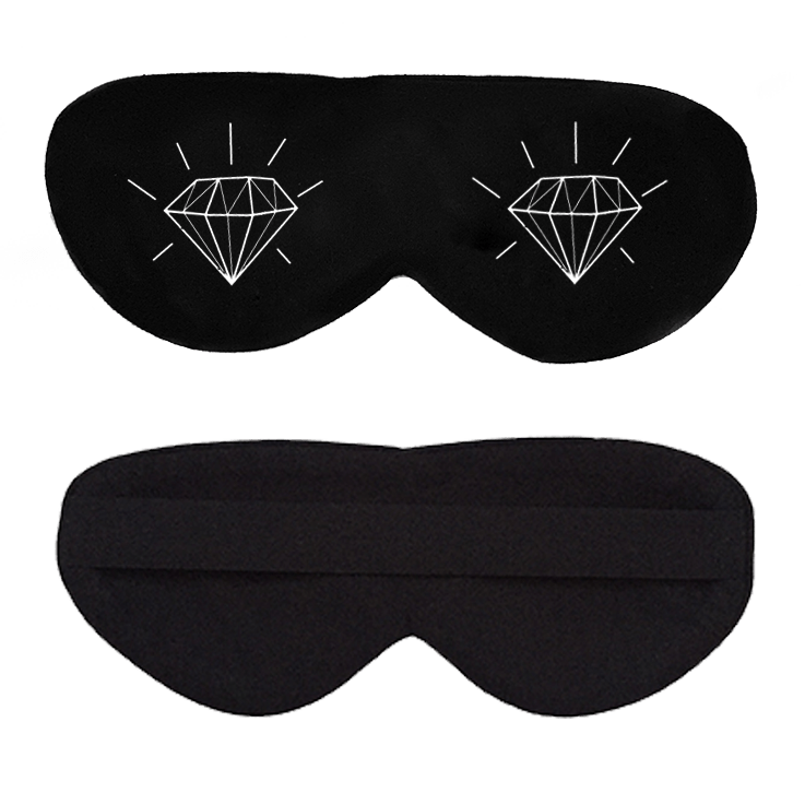 Diamonds in Your Eyes Cotton Lux Sleep Mask