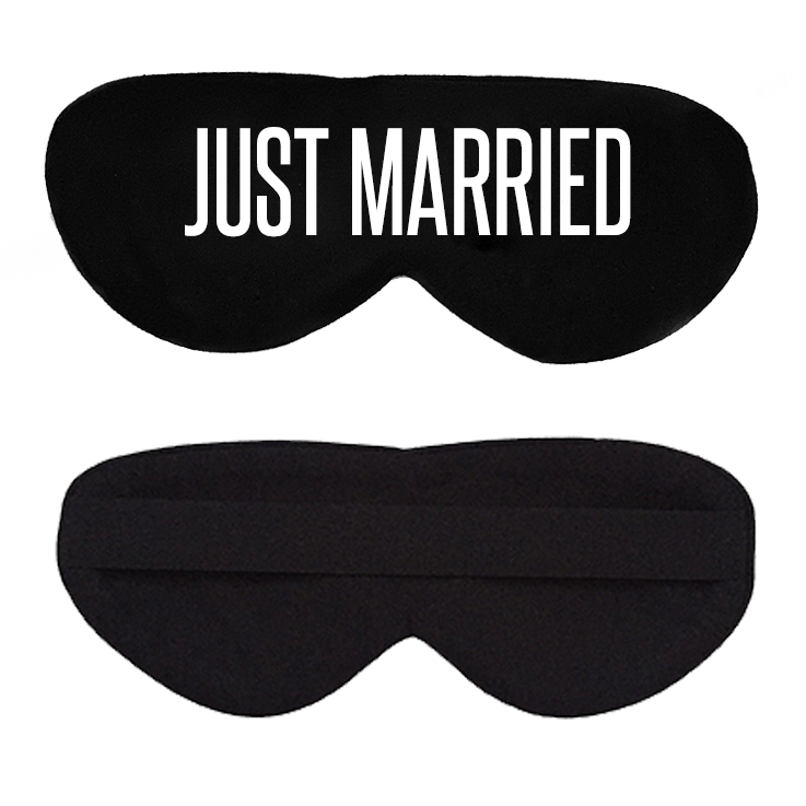 Just Married Cotton Lux Sleep Mask
