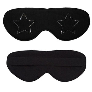 Clear Rhinestone Star Cotton Lux Sleep Mask