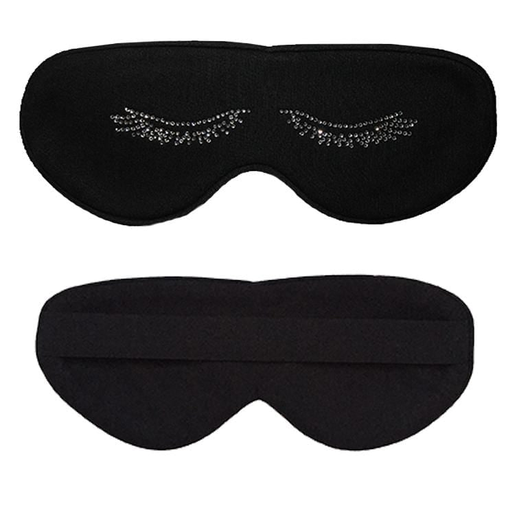 Clear Rhinestone Lashes Cotton Lux Sleep Mask