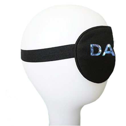 DADDY Silver Holographic Cotton Lux Sleep Mask